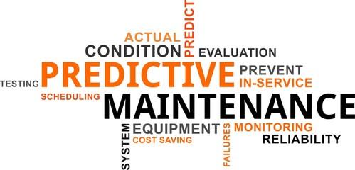 word cloud - predictive maintenance