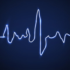Abstract heart beats. Cardiogram background. Medicine. Vector