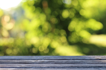 background table wooden outdoor bokeh