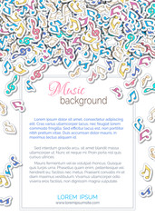 Vector music background.