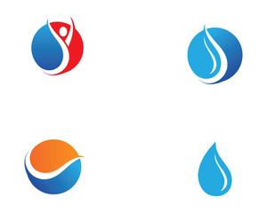 Water nature logo and symbols