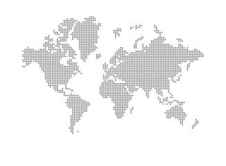 Moderne Weltkarte in Quadraten