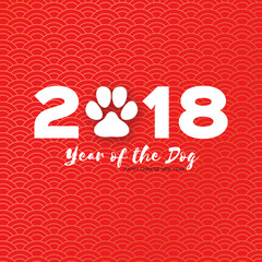Dog or cat paw print flat icon for animal apps and websites