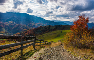 gorgeous autumn countryside mountain landscape