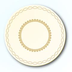 Western Porcelain Plate