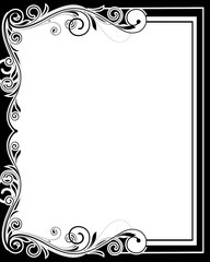 Retro Flourish Design Frame