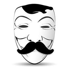 mask gentleman hat and glasses mustache bowtie