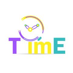 Clock icon design. Vector office clock icon with shadow. Seven o'clock