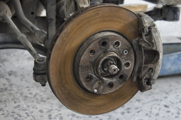 The braking system of a car