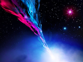 illustration of nebula in space