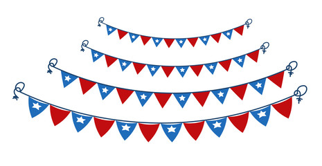 Decorative Party Elements independence day theme