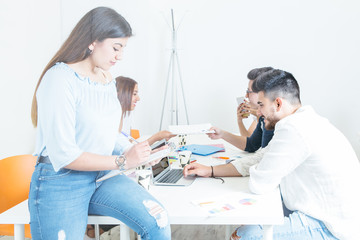 Professional team coworking in office