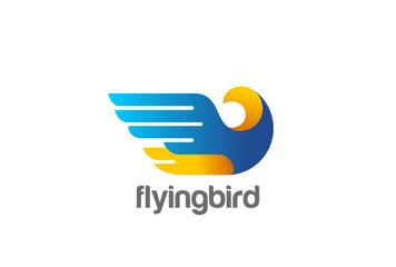 Eagle Bird abstract Logo vector. Falcon Hawk Flying Soaring icon