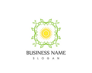 Nature Star leaf Logo
