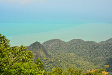 Langkawi mountains view
