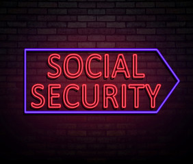 Social security concept.