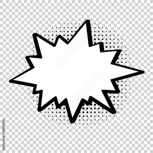 Vector comic explosion  Comic cartoon speech bubble for