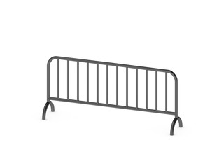 Barricade. Isolated on white background. 3D rendering illustration.