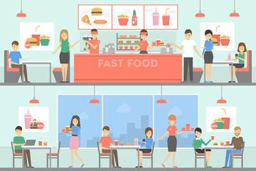 Fast food restaurant.