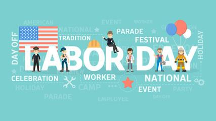 Labor day illustration.