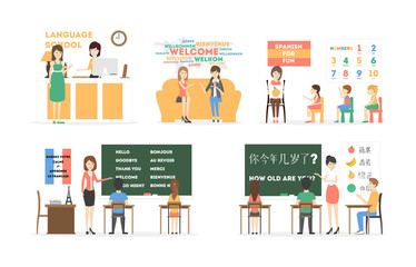 Language course set.