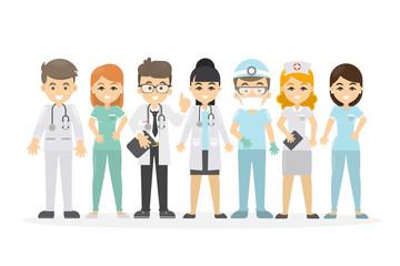 Medical staff set.
