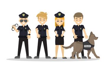 Police staff set.