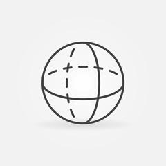 Vector volume sphere outline icon