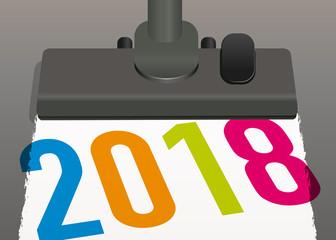 2018 - année - propreté - société de nettoyage - présentation - carte de vœux