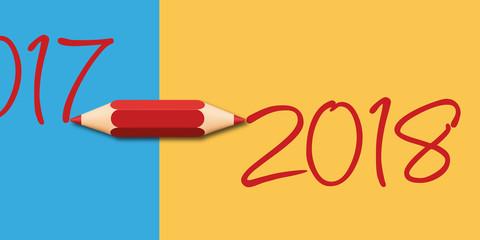 2018 - année - présentation - carte de vœux - créativité - artistique