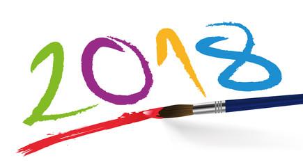 2018 - année - présentation - vœux - signature - créativité - carte de vœux