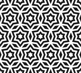 Stars pattern, ornament seamless texture with linear stars