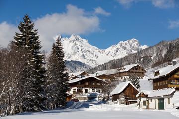 Fototapete - Winterlandschaft in den Alpen