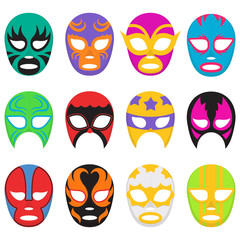 Colorful Wrestling Mask Collection