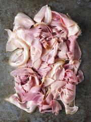 rustic shaved ham