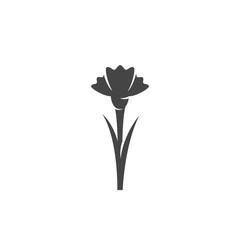 Carnation icon. Vector logo on white background