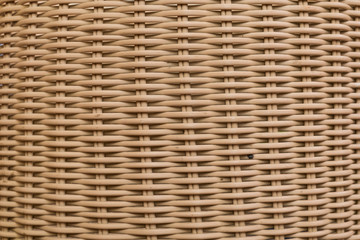 Texture of Wooden Wicker Basket for background