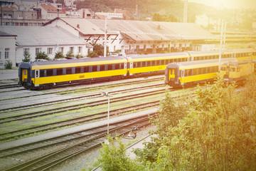 Train infrastructure background.