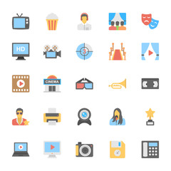 Multimedia Flat Colored Icons 3