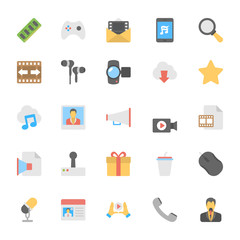 Multimedia Flat Colored Icons 4