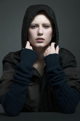 The girl in the hoodie