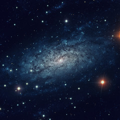 NGC 3621 is a field spiral galaxy in the constellation of Hydra. Elements of this image furnished by NASA.