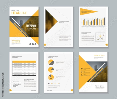 U0026quot Company Profile  Annual Report   Brochure   Flyer  Page Layout Template And Business Info Chart