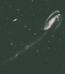 The Tadpole is a barred spiral galaxy in the constellation Draco. Elements of this image furnished by NASA.