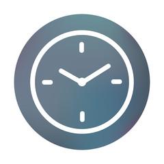 Farbiger Button - Uhr
