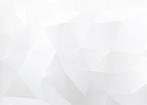 Abstract Low Poly White Background