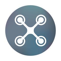 Farbiger Button - Drohne rund