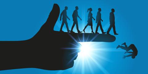 pouvoir - obéissance - montrer du doigt - autorité - direction - domination - orienter