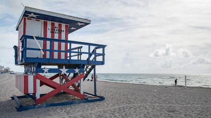 Lifeguard stand in south beach