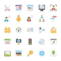 Web Design Flat Colored Icons 7